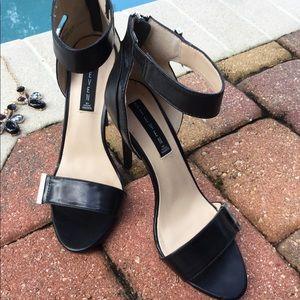Preloved Steve Madden Leather Ankle Strap Heels